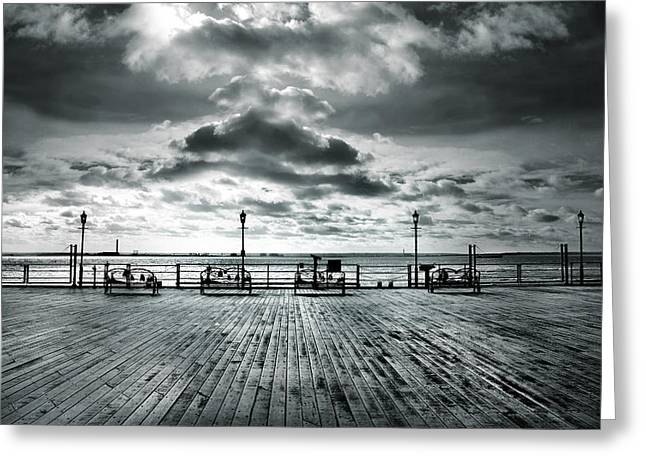 View Point on the Pier Greeting Card by Mark Rogan