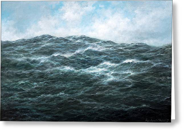 Deep Blue Sea Greeting Cards - View Greeting Card by Richard Willis