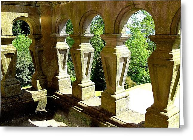 Greetingcard Greeting Cards - View Through The Balcony Greeting Card by Patrick J Murphy