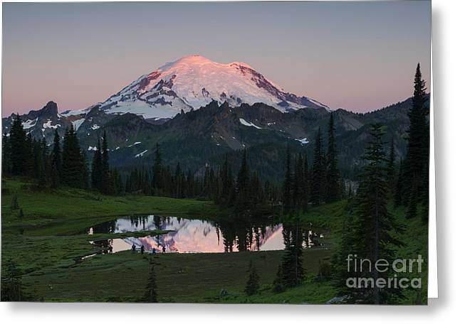 Mt. Rainier Greeting Cards - View to be Shared Greeting Card by Mike Dawson