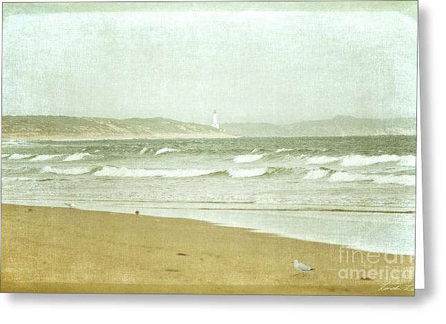 Sandy Beaches Greeting Cards - View to Point Lonsdale Greeting Card by Linda Lees