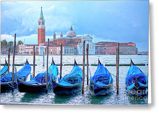 View To San Giorgio Maggiore Greeting Card by Heiko Koehrer-Wagner