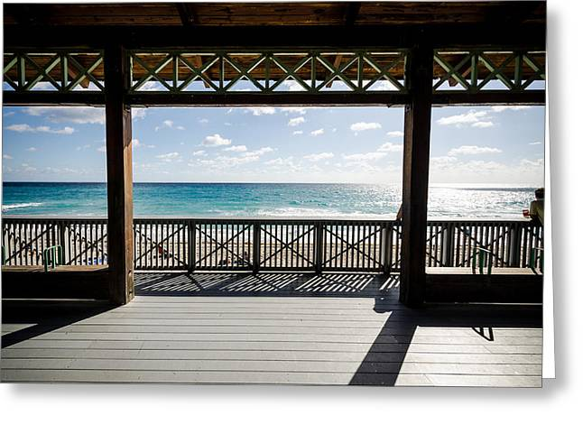 Atlantic Beaches Greeting Cards - View to the Ocean Greeting Card by Anthony Doudt