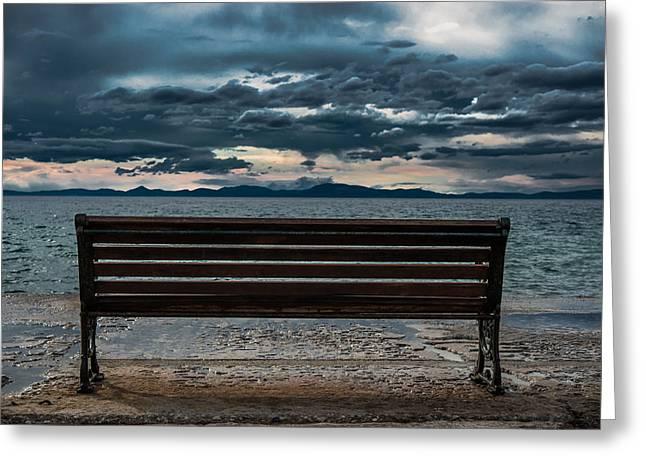 Pelion Greeting Cards - View to the Sea Greeting Card by Kyriakos Kyriazis