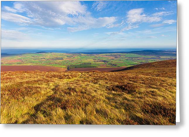 Outlook Greeting Cards - View towards Greystones from the Wicklow Way Greeting Card by Semmick Photo