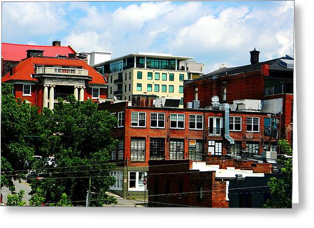 View Towards Lexington Avenue in Asheville Greeting Card by Utopia Concepts
