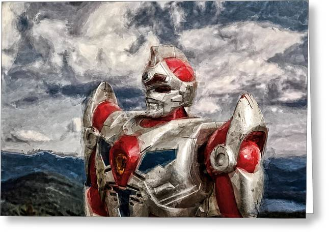 Cyborg Greeting Cards - View Wth A Robot Greeting Card by Jeff  Gettis