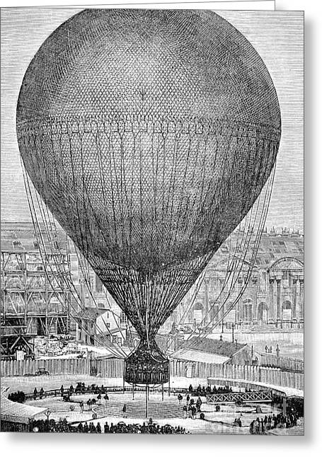 European Artwork Greeting Cards - Viewing Balloon At 1878 Paris Exposition Greeting Card by Bildagentur-online