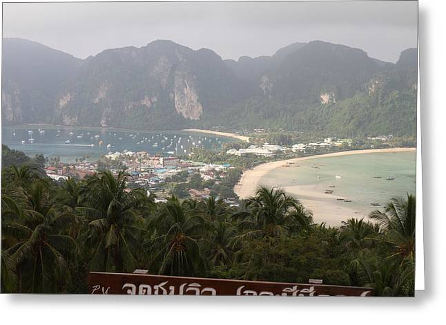 Viewpoint Greeting Cards - Viewpoint - Phi Phi Island - 011312 Greeting Card by DC Photographer