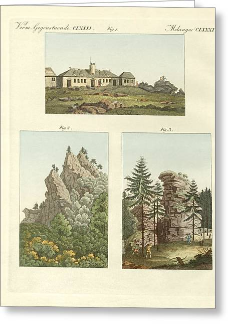 Deutschland Greeting Cards - Views of Harz Greeting Card by Splendid Art Prints