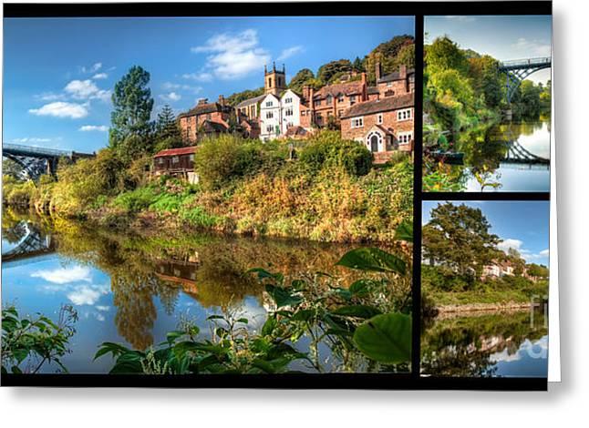 Views Of Ironbridge Greeting Card by Adrian Evans