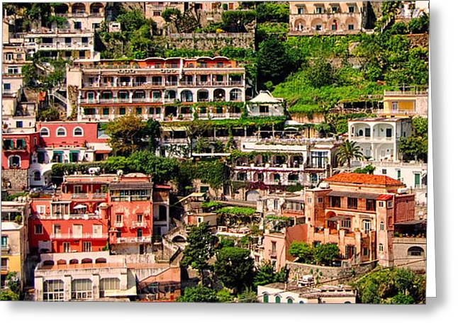 Sea View Greeting Cards - Views to the sea - Positano Italy Greeting Card by Jon Berghoff