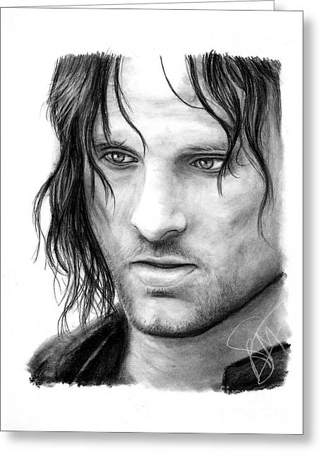 Viggo Mortensen Greeting Card by Rosalinda Markle