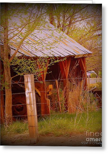 Shed Greeting Cards - Vignette of the Past Greeting Card by Bobbee Rickard