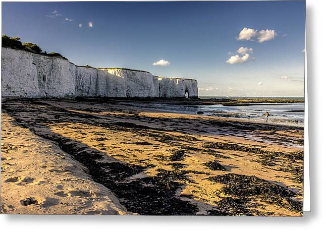 Sandy Beaches Greeting Cards - Viking Bay Broadstairs.  Greeting Card by Ian Hufton