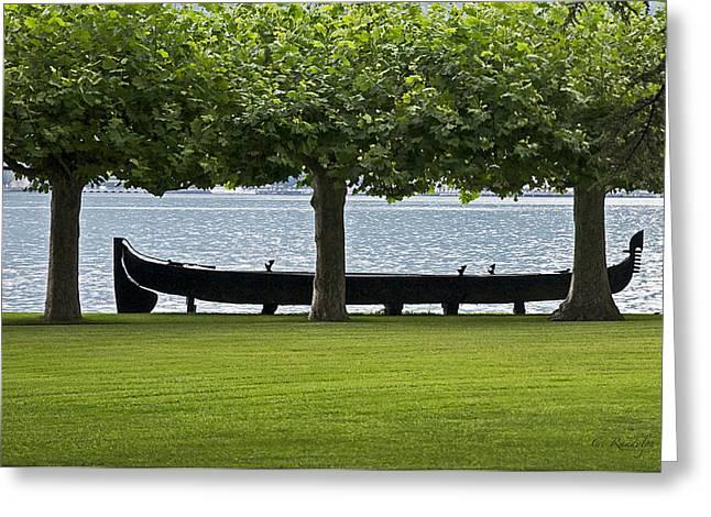 Viking Boat Greeting Card by Cheri Randolph