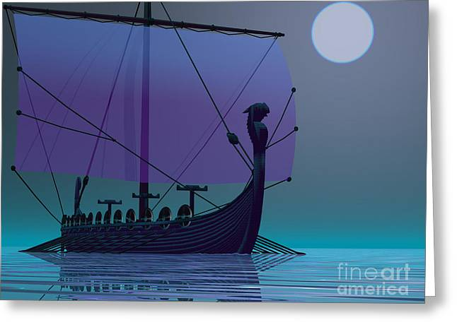 Viking Journey Greeting Card by Corey Ford