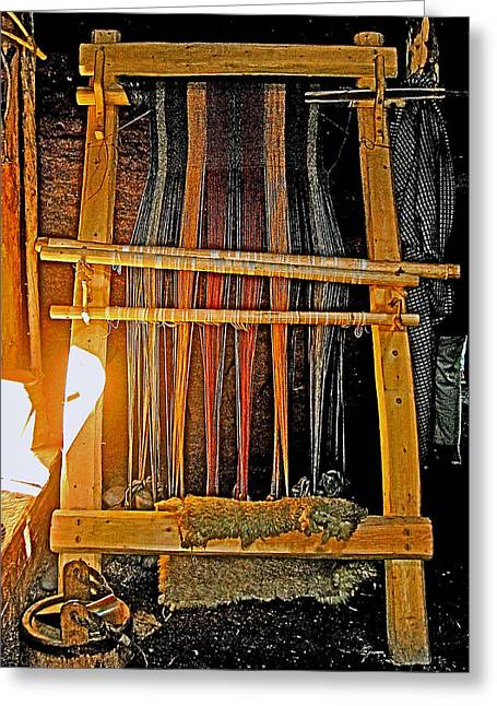 Loom Digital Art Greeting Cards - Viking Loom Replica at LAnse Aux Meadows-NL Greeting Card by Ruth Hager