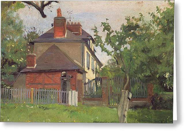 Villa Paintings Greeting Cards - Villa Beaulieu Honfleur Greeting Card by Felix Edouard Vallotton