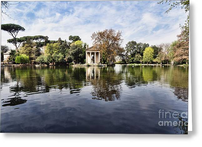 Greek Sculpture Greeting Cards - Villa Borghese in Rome Greeting Card by Frank Bach