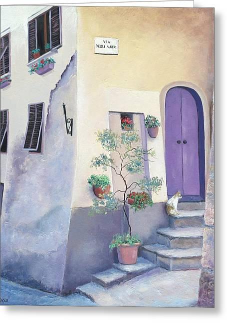 Hilltop Scenes Greeting Cards - Villa Degli Algeri Tuscany Greeting Card by Jan Matson