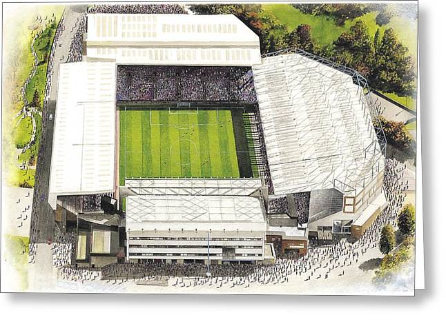 League Paintings Greeting Cards - Villa Park - Aston Villa Greeting Card by Kevin Fletcher