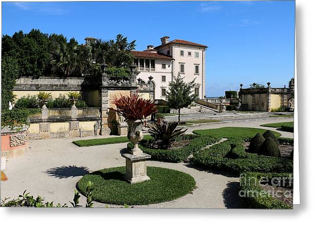 Bauwerk Greeting Cards - Villa Vizcaya From The Garden Greeting Card by Christiane Schulze Art And Photography