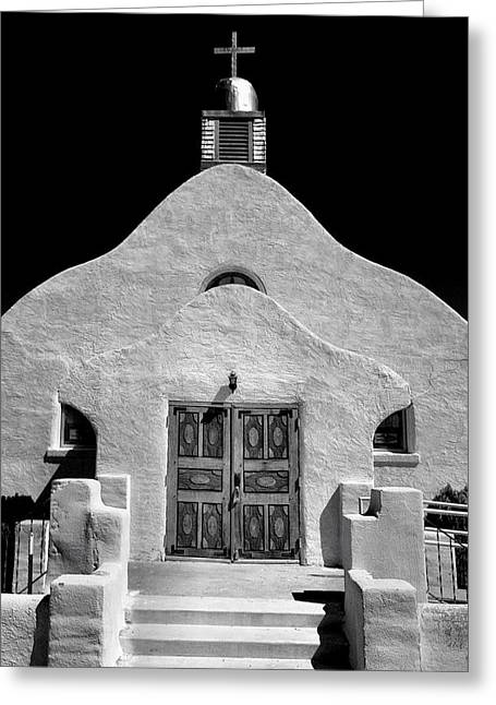 Adobe Greeting Cards - Village Adobe Church II Greeting Card by Steven Ainsworth