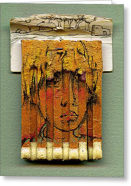 Sketchbook Greeting Cards - Village Girl Greeting Card by Alexandre  Sazonov