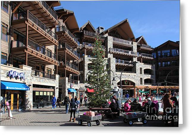 Ski Village Greeting Cards - Village at Northstar California USA 5D27743 Greeting Card by Wingsdomain Art and Photography