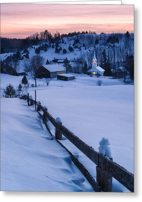 New England Village Greeting Cards - Village Beacon Greeting Card by Michael Blanchette
