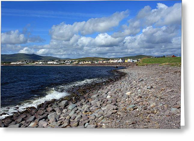 Village By The Sea - County Kerry - Ireland Greeting Card by Aidan Moran