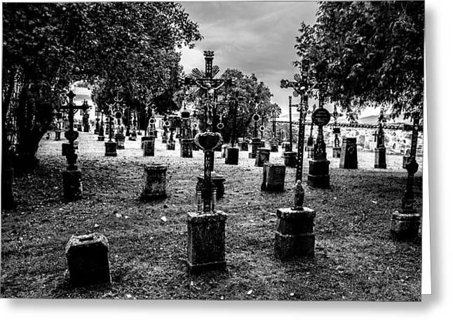 Tschechien Greeting Cards - Village Cemetery Greeting Card by Lubos Kavka