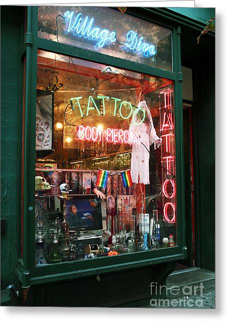Tattoo Culture Greeting Cards - Village Diva Greeting Card by John Rizzuto