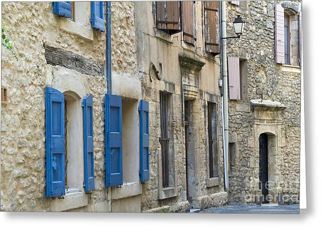Provence Village Greeting Cards - Village Doors and Windows Greeting Card by Bob Phillips