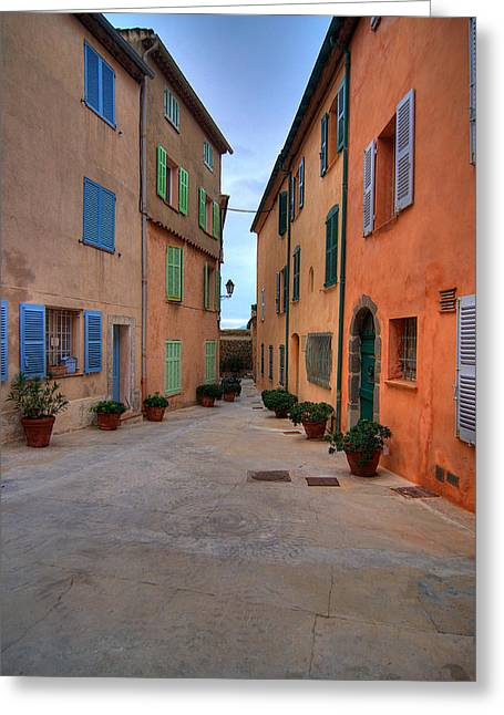 St.tropez Greeting Cards - Village Greeting Card by Florian Vera