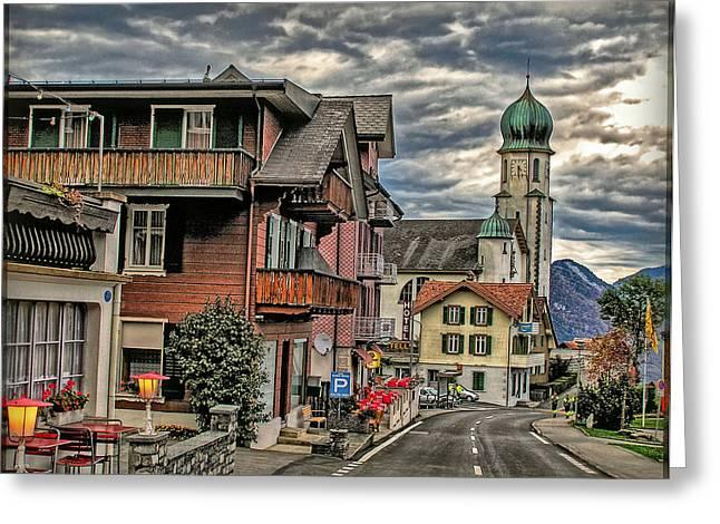 Himmel Greeting Cards - Village Image Greeting Card by Hanny Heim