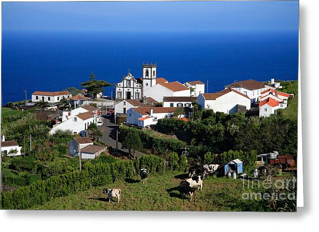 Village By The Sea Greeting Cards - Village in Azores islands Greeting Card by Gaspar Avila