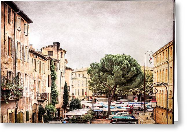 France Doors Greeting Cards - Village in Provence Greeting Card by Catherine Arnas