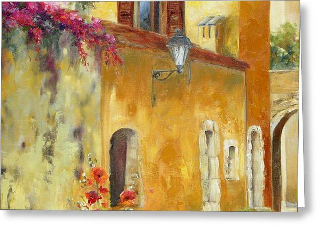 Village in Provence Greeting Card by Chris Brandley