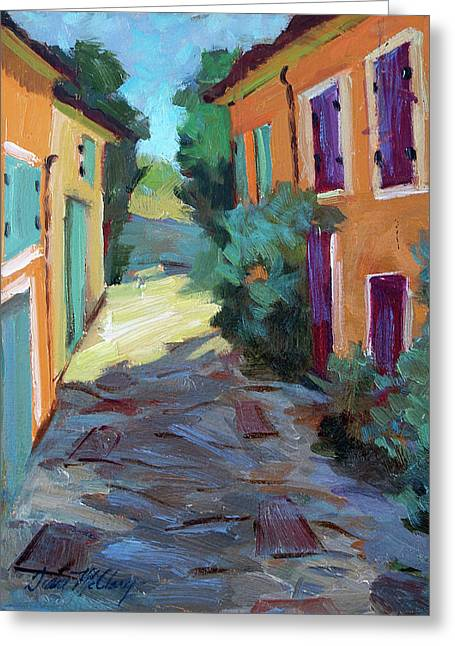 Provence Village Greeting Cards - Village In Provence Greeting Card by Diane McClary