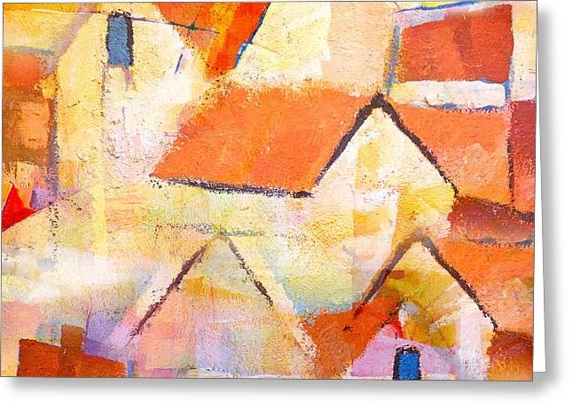 Abstract Seascape Greeting Cards - Village Greeting Card by Lutz Baar