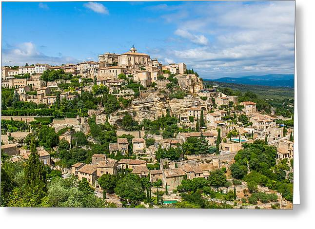 Provence Village Greeting Cards - Village of Gordes Greeting Card by Alex Zabo