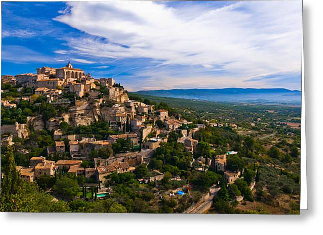 Provence Village Greeting Cards - Village of Gordes Provence France Greeting Card by Jeff Black
