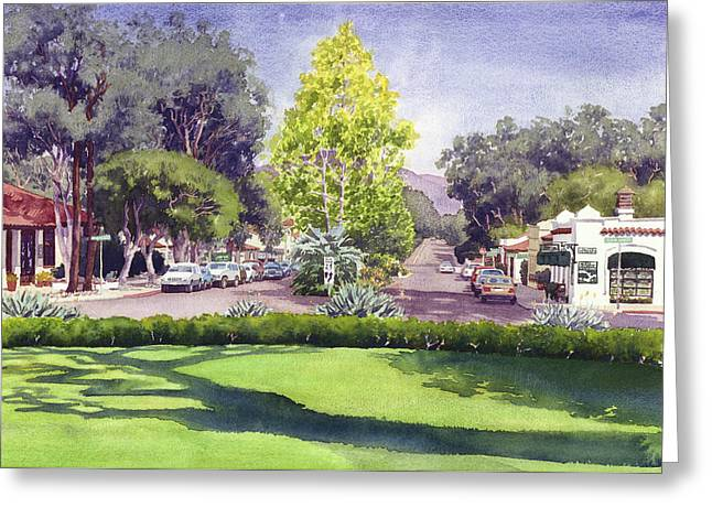 Eucalyptus Tree Greeting Cards - Village of Rancho Santa Fe Greeting Card by Mary Helmreich