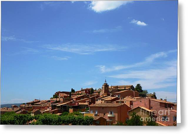 Provence Village Greeting Cards - Village of Roussillon - France Greeting Card by Cristina Stefan