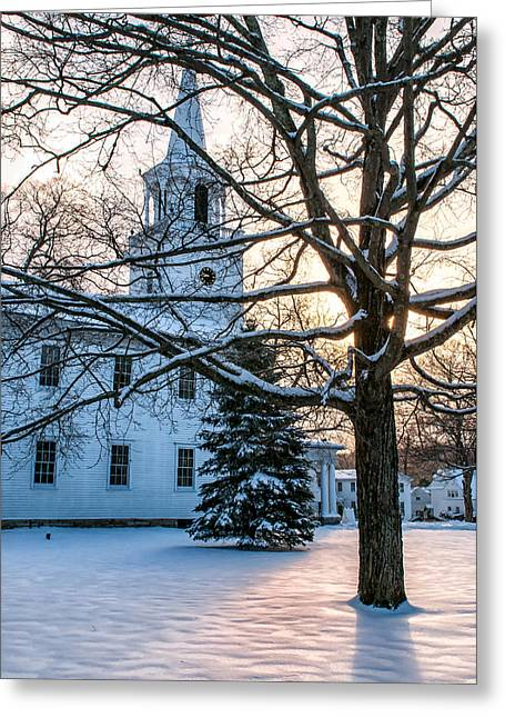 New England Village Scene Greeting Cards - Village of Washington Depot - Connecticut Greeting Card by Thomas Schoeller