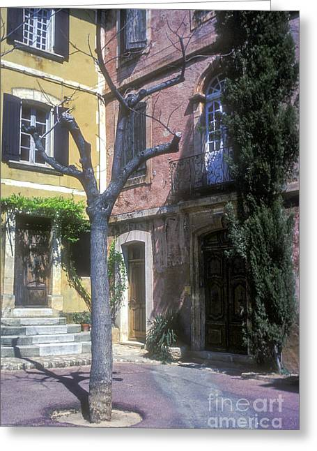 Provence Village Greeting Cards - Village Square Greeting Card by Bob Phillips