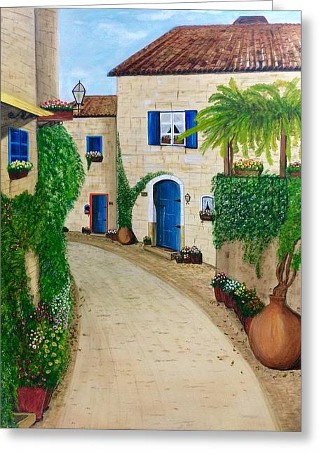 Provence Village Greeting Cards - Tuscany Calling  Greeting Card by Aarti Bartake
