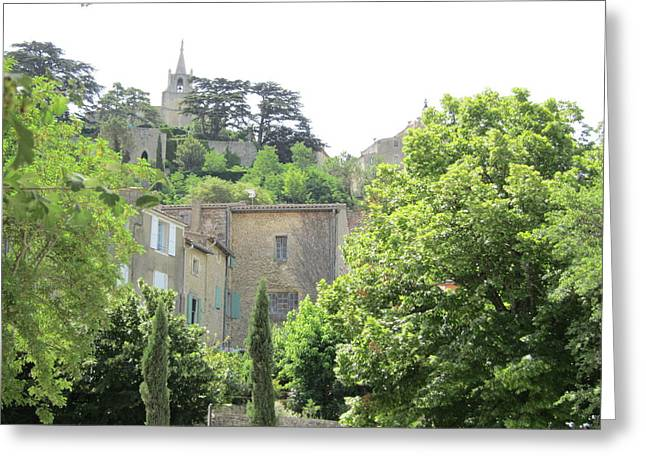 Provence Village Greeting Cards - Village View Greeting Card by Pema Hou